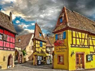 Собирать пазл Эгисхайм Франция онлайн