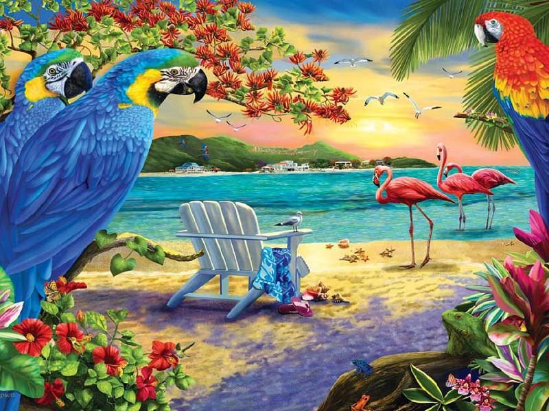 Пазл Собирать пазлы онлайн - Экзотический пляж