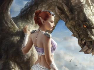Собирать пазл Эльф и дракон онлайн