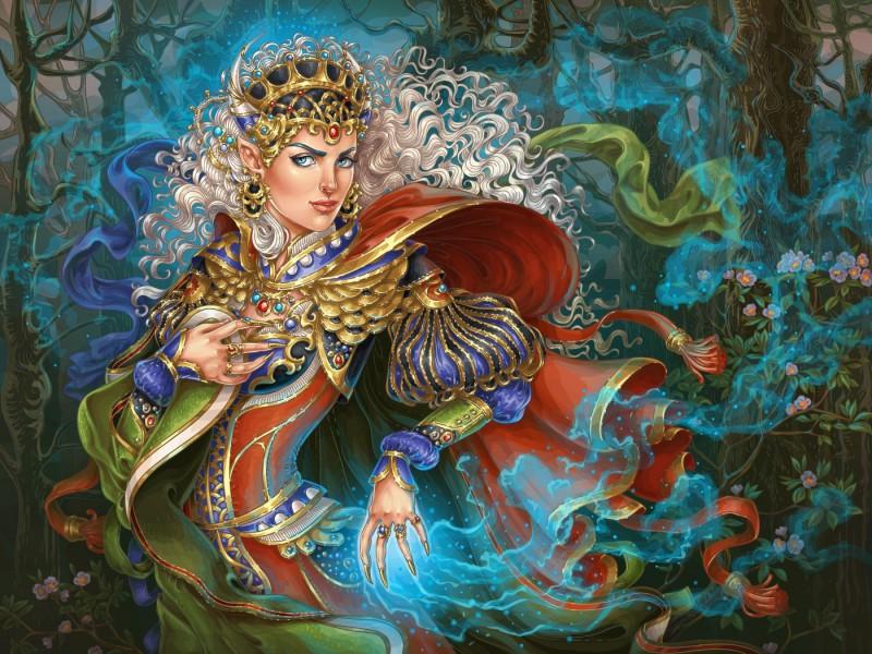 Пазл Собирать пазлы онлайн - Эльфийская колдунья