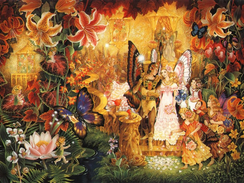 Пазл Собирать пазлы онлайн - Эльфийская свадьба