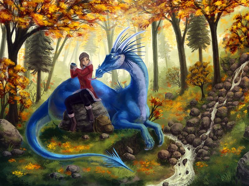 Пазл Собирать пазлы онлайн - Эй дракон собери сам