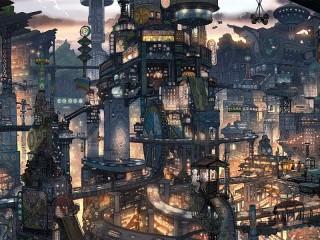 Собирать пазл Фантастический город онлайн