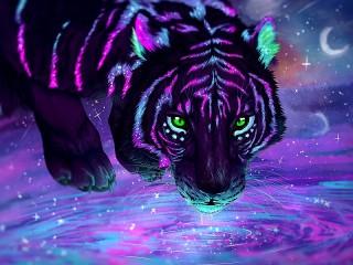 Собирать пазл Фантастический тигр онлайн
