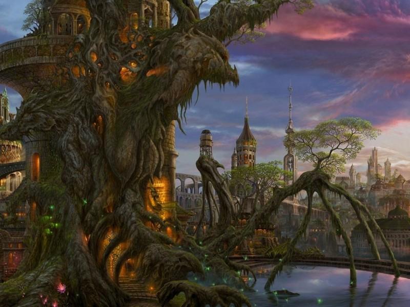 Пазл Собирать пазлы онлайн - Фантастический замок