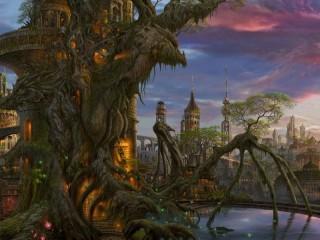 Собирать пазл Фантастический замок онлайн