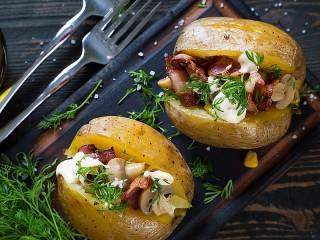 Собирать пазл Фаршированный картофель  онлайн
