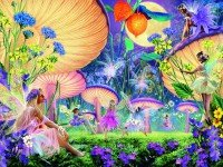 Собирать пазл Феи и грибы онлайн
