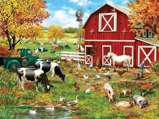 Собирать пазл Ферма онлайн