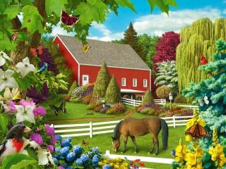 Собирать пазл Ферма летом онлайн