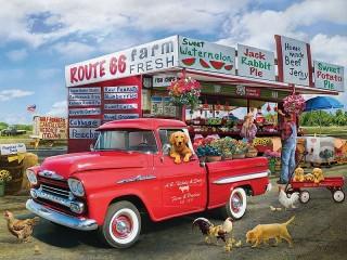 Собирать пазл Фермерская продукция онлайн