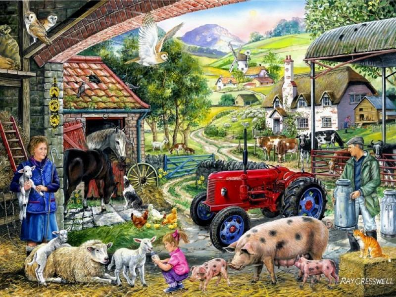 Пазл Собирать пазлы онлайн - Фермерские заботы