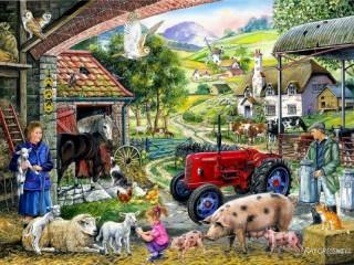 Собирать пазл Фермерские заботы онлайн