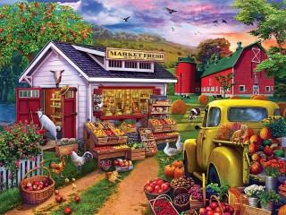 Собирать пазл Фермерский магазин онлайн