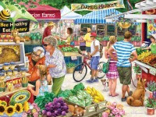 Собирать пазл Фермерский рынок онлайн