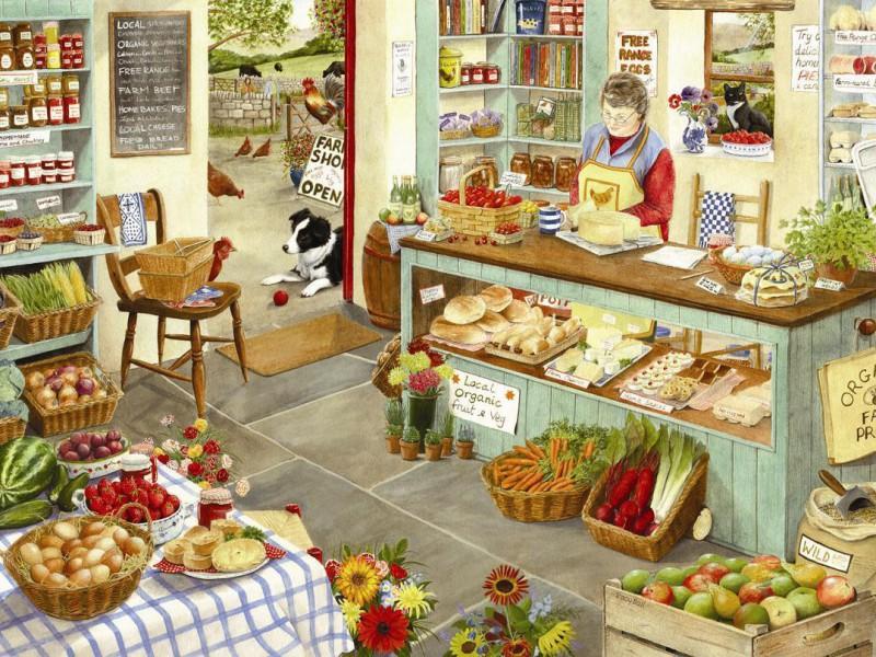 Пазл Собирать пазлы онлайн - Фермерский магазин