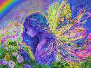 Собирать пазл Фея-бабочка онлайн