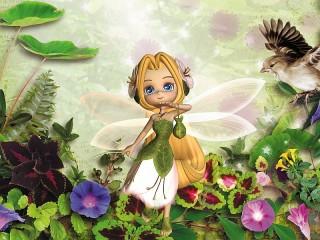 Собирать пазл Фея цветов онлайн