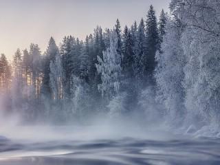 Собирать пазл Финская зима онлайн