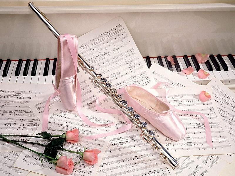 Пазл Собирать пазлы онлайн - Флейта и пуанты