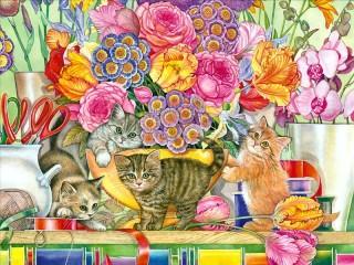 Собирать пазл Флористы онлайн