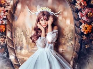 Собирать пазл Цветочная фея онлайн