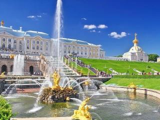 Собирать пазл Фонтан в Петродворце онлайн