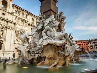 Собирать пазл Фонтан в Риме онлайн