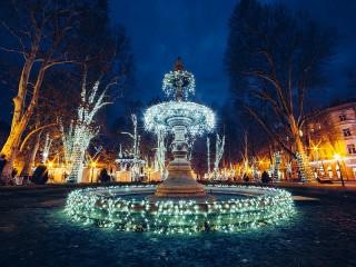 Собирать пазл Фонтан в Загребе онлайн