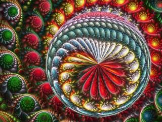 Собирать пазл Фрактал абстракция онлайн
