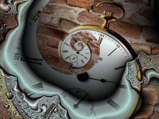 Собирать пазл Фрактал часы онлайн
