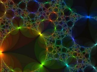 Собирать пазл Фрактал с кругами онлайн