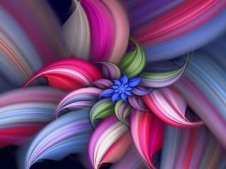 Собирать пазл Фрактал цветок онлайн