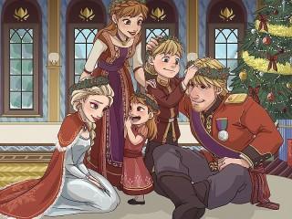 Собирать пазл Frozen Christmas онлайн
