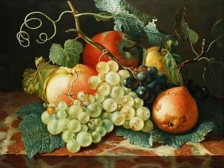 Собирать пазл Фрукты и виноград онлайн