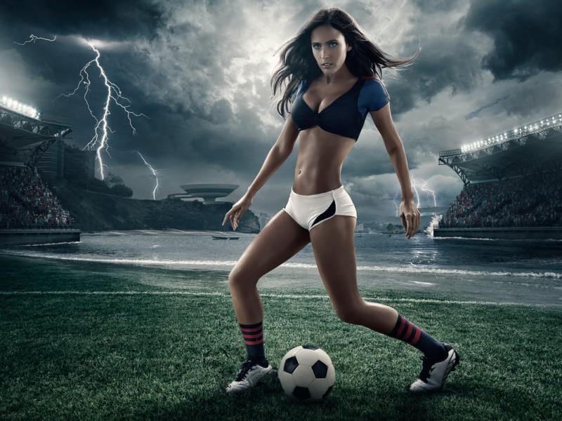 Пазл Собирать пазлы онлайн - Футболистка