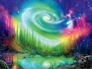 Собирать пазл Галактические узоры онлайн