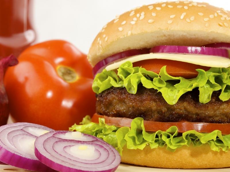 Пазл Собирать пазлы онлайн - Гамбургер