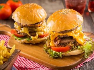 Собирать пазл Гамбургеры онлайн