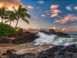 Собирать пазл Гаваи Тихий океан онлайн