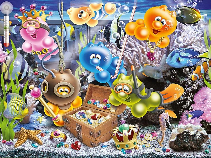 Пазл Собирать пазлы онлайн - Жизнь Gelini - в аквариуме