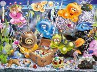 Собирать пазл Жизнь Gelini - в аквариуме онлайн