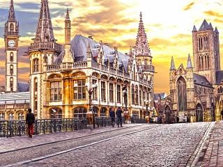 Собирать пазл Гент Бельгия онлайн