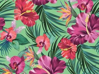 Собирать пазл Гибискус и орхидея онлайн