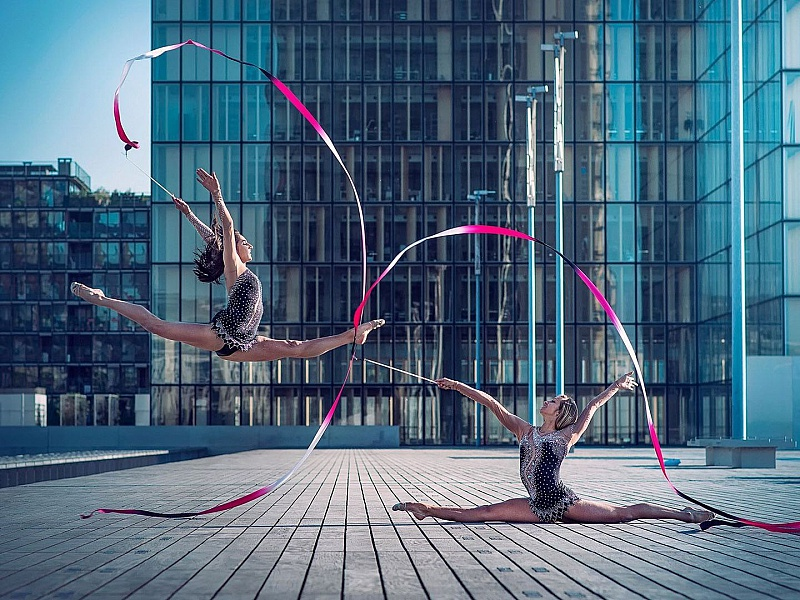 Пазл Собирать пазлы онлайн - Гимнастки