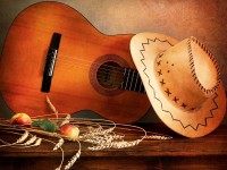 Собирать пазл Гитара и шляпа онлайн