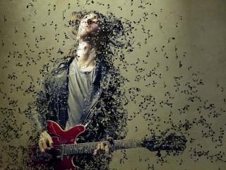 Собирать пазл Гитарист онлайн