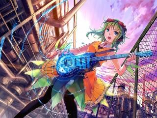 Собирать пазл Гитаристка онлайн