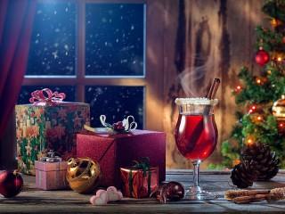 Собирать пазл Глинтвейн и подарки онлайн