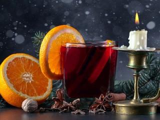 Собирать пазл Глинтвейн и свеча онлайн